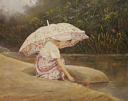 Pink Parasol by Jason  Swain