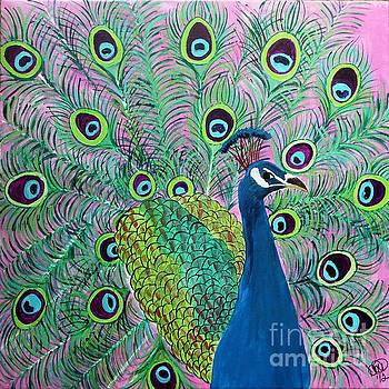 Pink peacock #2 by Dawn Plyler