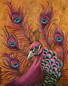 Pink Peacock by Leah Saulnier The Painting Maniac