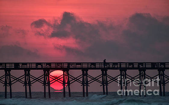 Pink Pier Sunrise by DJA Images