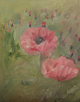 Pink Poppies by Yimeng Bian