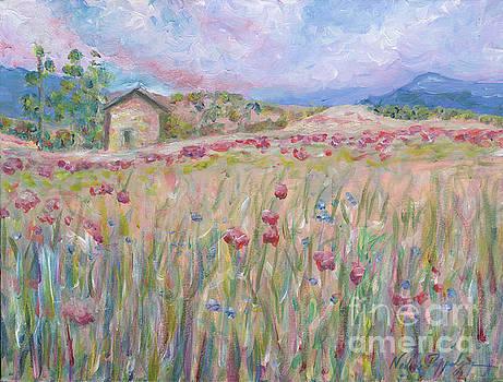 Pink Poppy Field by Nadine Rippelmeyer