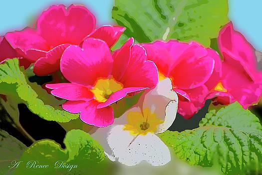 Pink Primroses Nikon Effects by Renee Marie Martinez