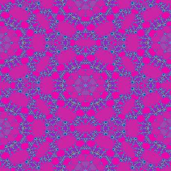 Pink purple abstract ornamental fractal design by Lenka Rottova