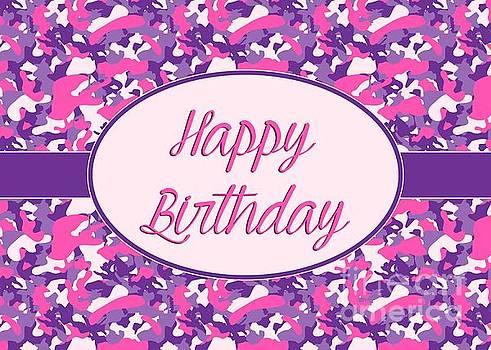 JH Designs - Pink Purple Camo Birthday