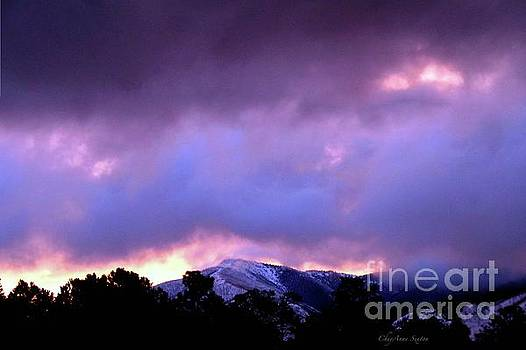 Pink Purple Sunrise over Flag Mtn. by CheyAnne Sexton