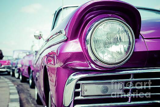 Pink retro car by Ekaterina Molchanova