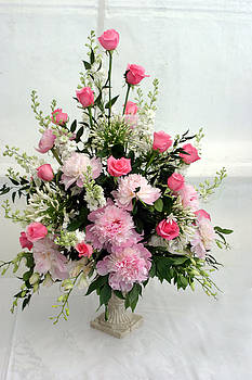 Pink Rose and Carnation Bouquet  by Reni Boisvert