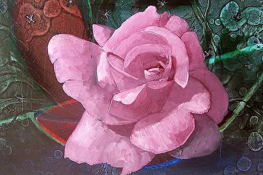 Pink rose by Paul Bokvel Smit