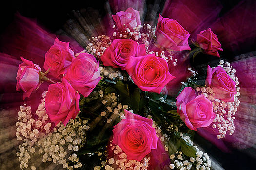 Pink Roses Bouquet Explosion by James BO Insogna