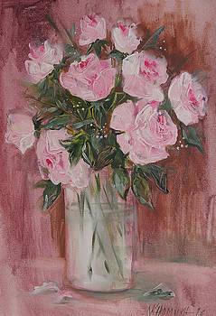 Pink Roses by Khromykh Natalia