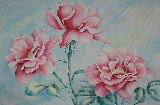 Pink Roses by Mary Lillian White
