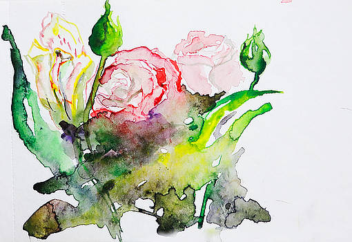 Pink Roses by Natalia Stahl