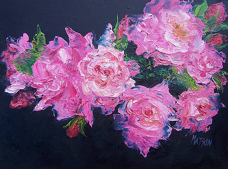 Jan Matson - Pink Roses oil painting