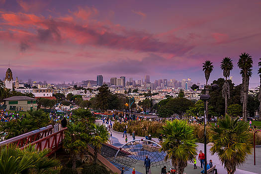 Pink San Francisco by Srikanth Srinivasan