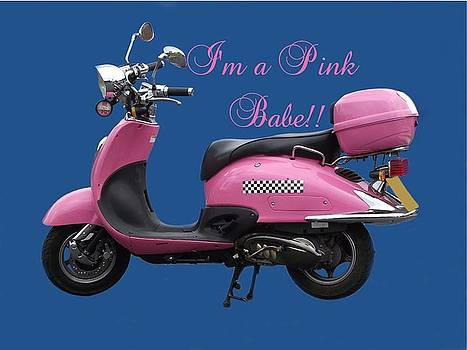 Pink Scooter by Dawn Hay