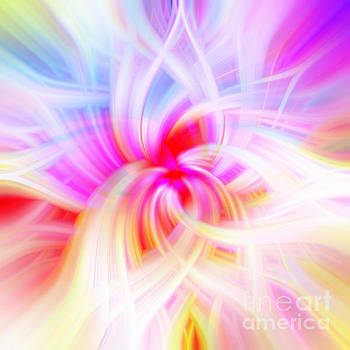 Pink Sea of Light Abstract by Phill Petrovic