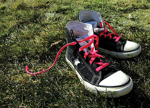 Pink Shoe Laces by Mary Capriole