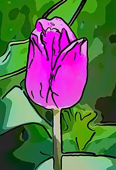 Steve Harrington - Pink Simplicity - Line Art