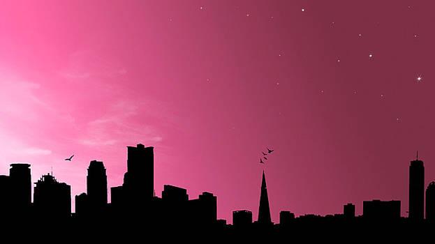 Pink Skies by Digital Art Cafe