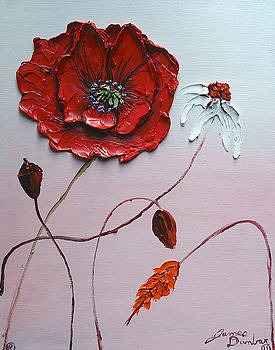 Pink Sky Red Poppies 6 by Portland Art Creations