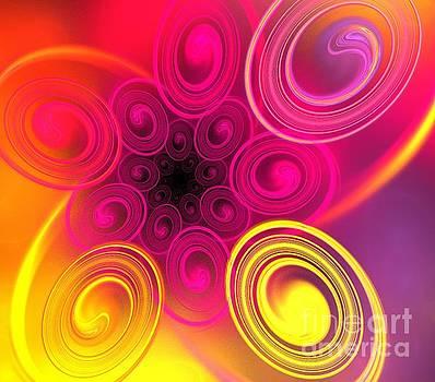 Pink Sun Ovals by Kim Sy Ok