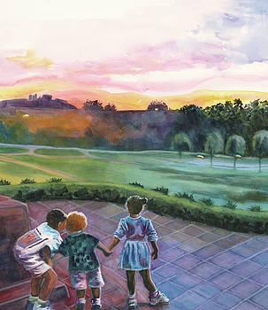 Pink Sunset by Maureen Dean