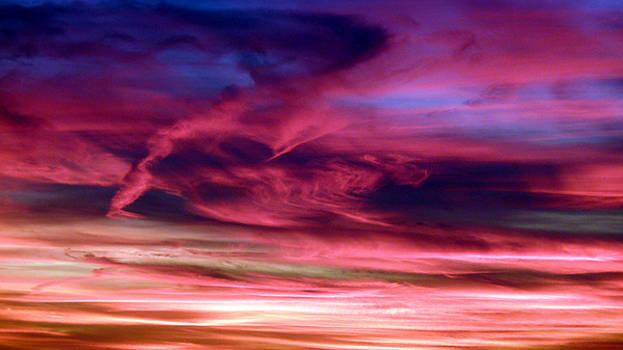 Pink Sunset by Tim Mattox