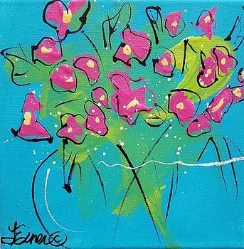 Pink Sweetpeas by Terri Einer