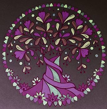 Pink tree 1 by Jilly Curtis