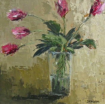 Pink Tulip Study by Donna Thomas