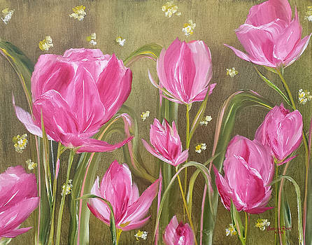 Pink Tulips by Judith Rhue