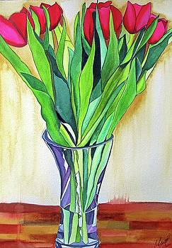 Pink Tulips by Sacha Grossel