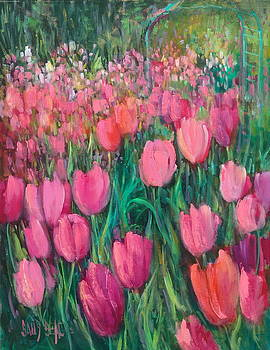 Pink Tulips by Sally Seago