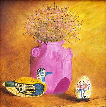 Pink Vase by Sylvia Riggs