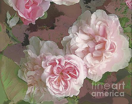Pink Vintage Roses II by Vickie Wade