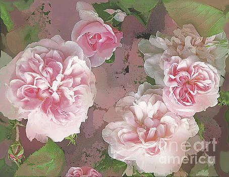Pink Vintage Roses by Vickie Wade