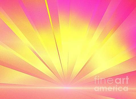 Pink Yellow Light by Kim Sy Ok
