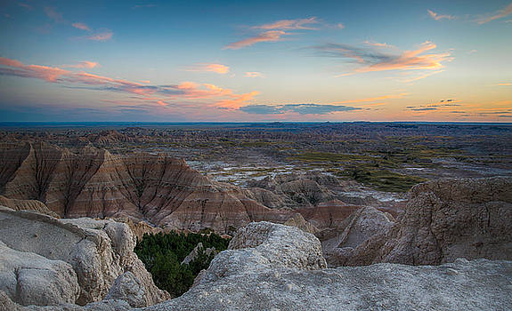 Pinnacles Overlook, Badlands by Christopher L Nelson