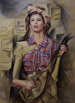 Pinup Girl with a Mandolin by Enriqueto Sabio