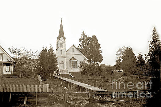 Pioneer Church is a historic church on Alley Street in Cathlamet Wash. Cica 1895 by California Views Mr Pat Hathaway Archives