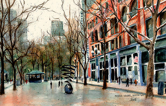 Pioneer Square by Marti Green