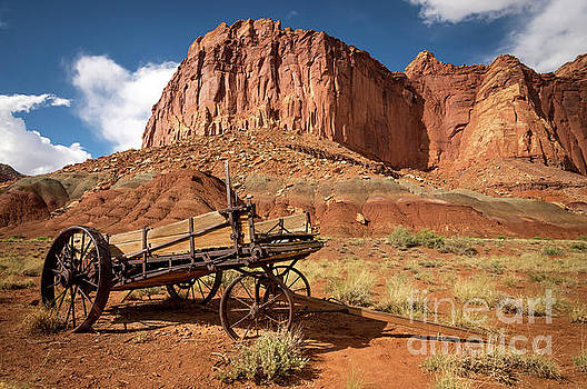 Pioneer Wagon - Capitol Reef National Park - Utah by Gary Whitton