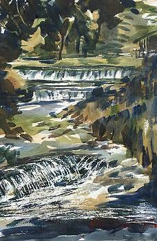 Pipe Creek Falls by JULES Buffington