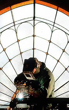 Pipe Welder by Aimee K Wiles-Banion