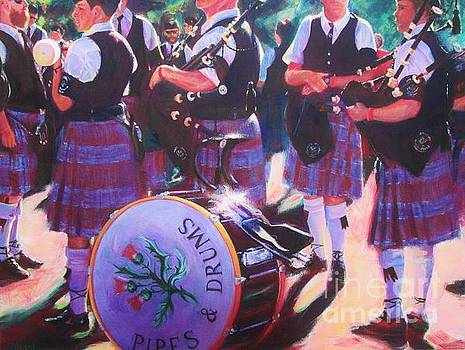 Pipes and Drums by Lesley McVicar