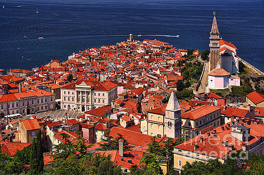 Piran from the Castle wall by Graham Hawcroft pixsellpix