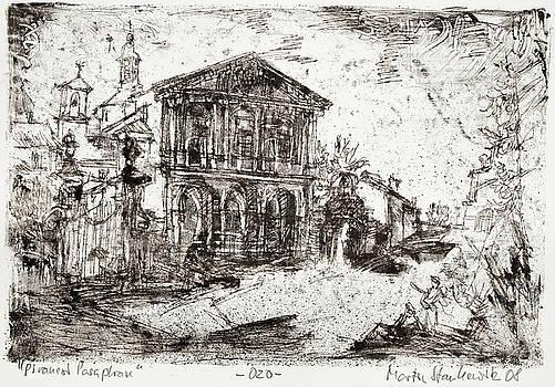 Piranesi Paraphrase No. 20 - Basilica of Sebastiano fuori le mura by Martin Stankewitz