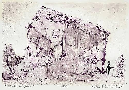 Piranesi Paraphrase No. 28 - Tempio delle Camene by Martin Stankewitz