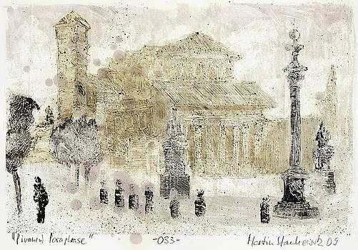 Piranesi Paraphrase No. 33 - Basilica of San Lorenzo fuori le Mura by Martin Stankewitz